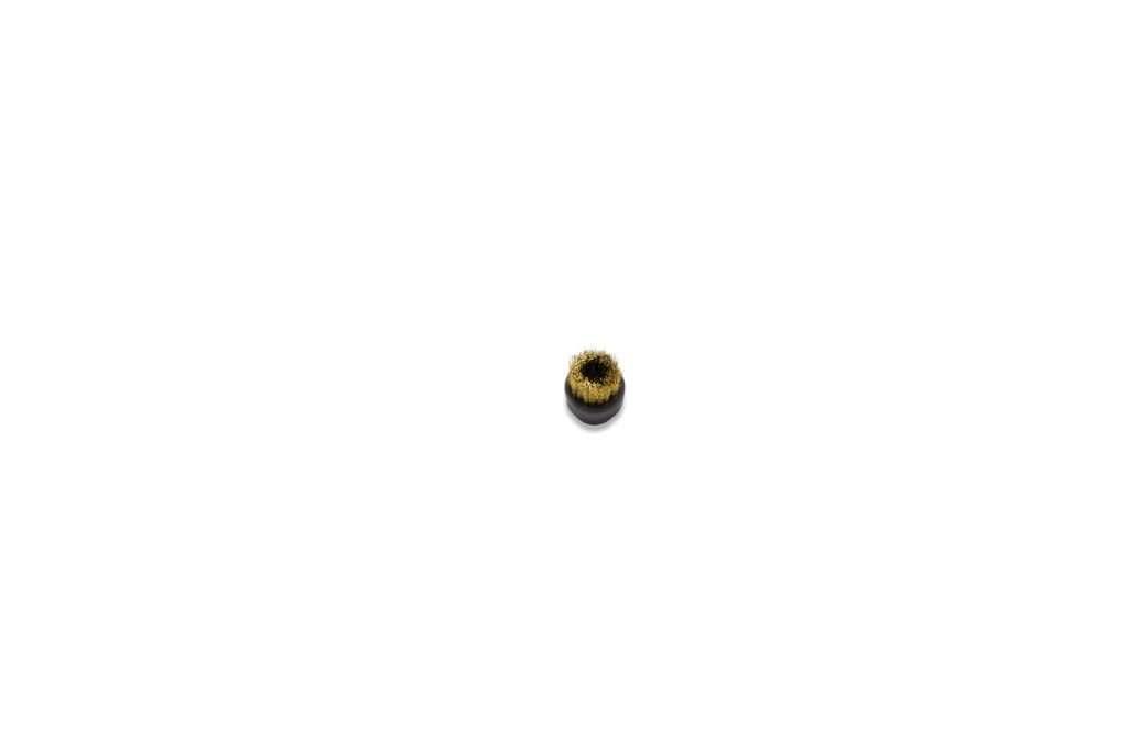 Spazzolino 30mm nero setole ottone